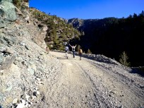 Heading up the dirt road.