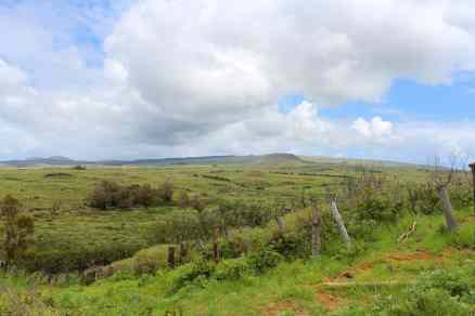 Beautifully rugged landscape on Easter Island