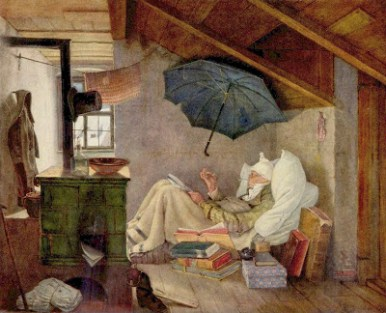 "Painting, ""The Poor Poet"" by Carl Spitzweg"