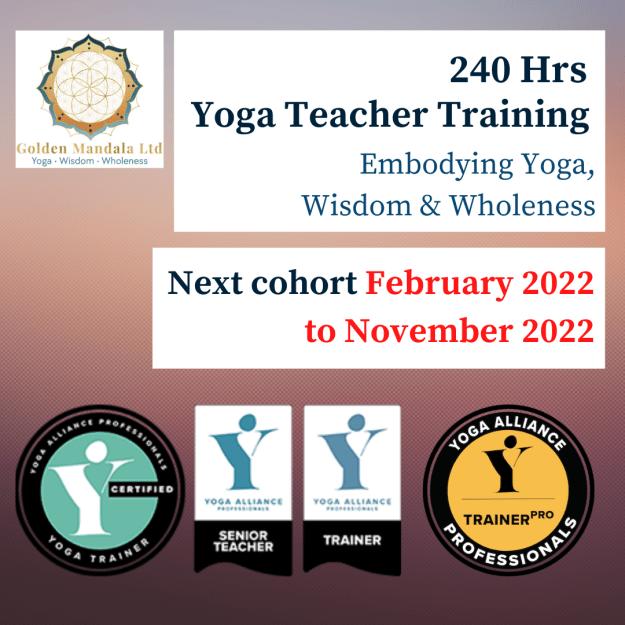 240-Hrs Yoga Teachers Training Golden Mandala Yoga School, 200 hrs yoga teacher training Thanet, Kent