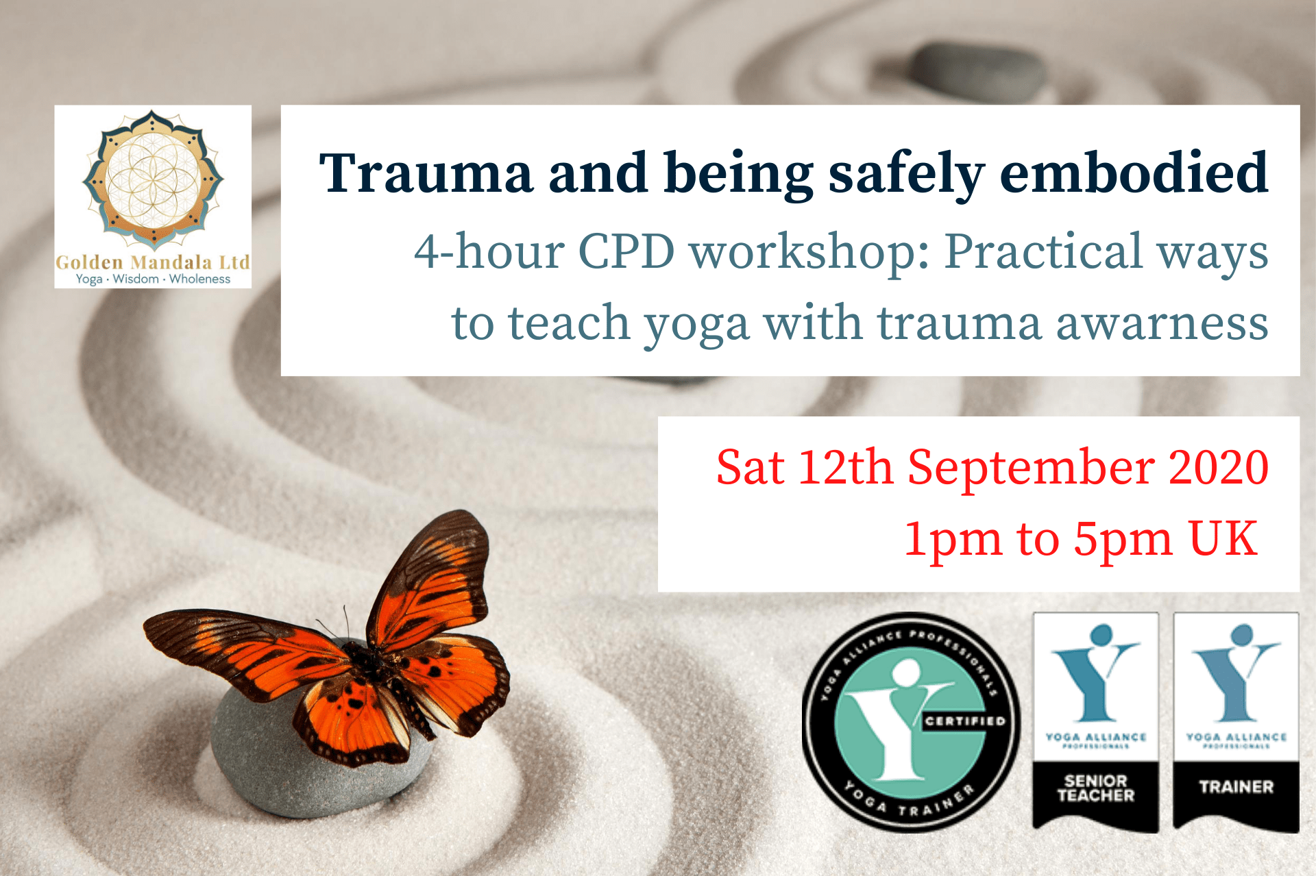 Cpd Yoga Teachers Training Trauma And Being Safely Embodied Thrive With Embodied Wisdom