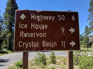 Road Sign Ice House Reservoir