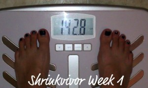 shrinkvivor weigh in week 1