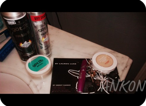 makeup and hair products