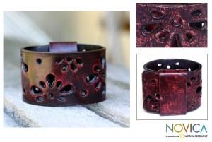 Novia Red Leather Bracelet