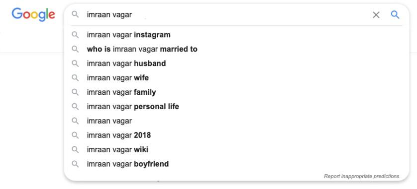 Google Imraan Vagar