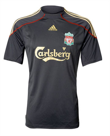 Liverpool Away kit 09