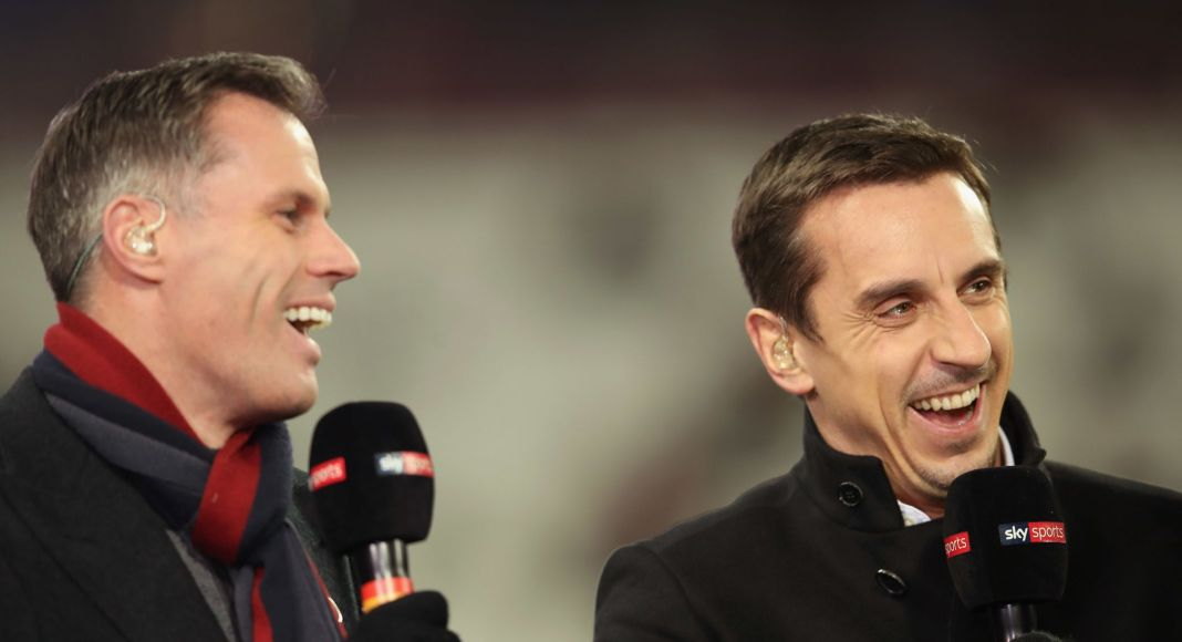 Jamie Carragher and Gary Neville - Liverpool.