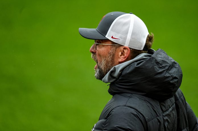 LIVERPOOL, ENGLAND - MAY 23: (THE SUN OUT, THE SUN ON SUNDAY OUT) Jurgen Klopp manager of Liverpool during the Premier League match between Liverpool and Crystal Palace at Anfield on May 23, 2021 in Liverpool, England.