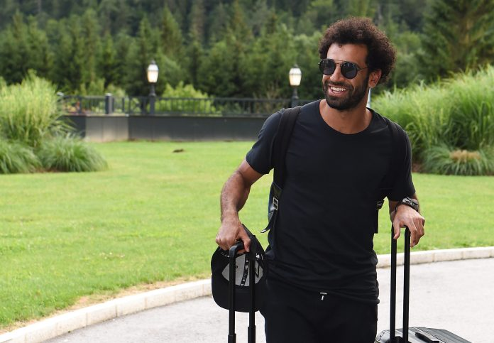 UNSPECIFIED, AUSTRIA - JULY 11: Mohamed Salah of Liverpool arrives at the Training Camp on July 11, 2021 in UNSPECIFIED, Austria.