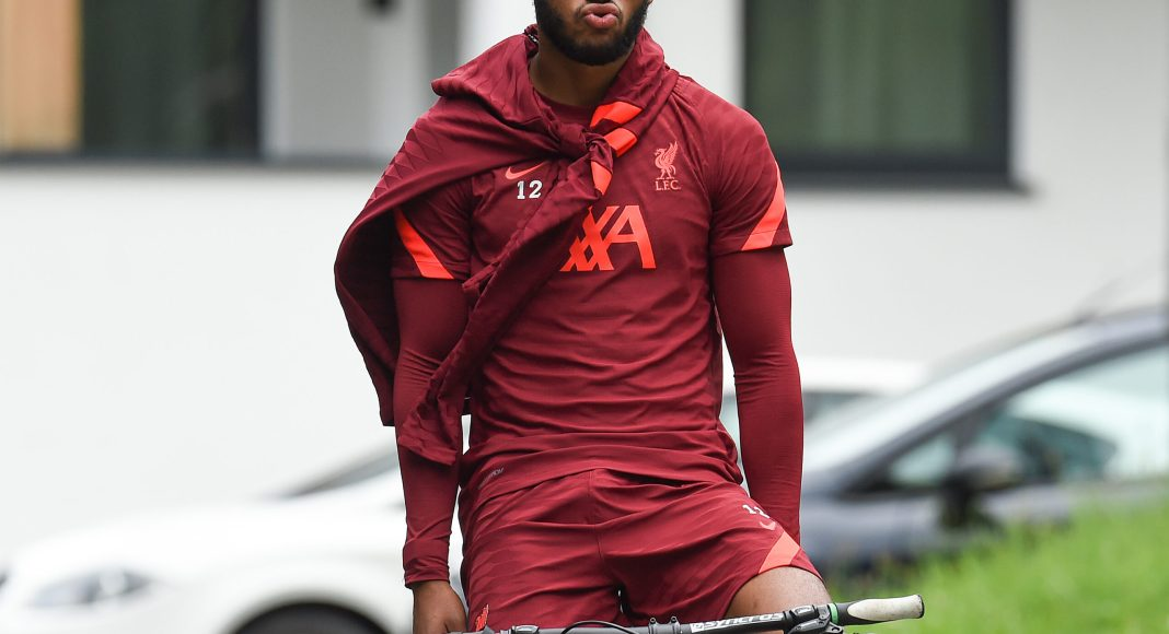 UNSPECIFIED, AUSTRIA - JULY 14: Joe Gomez of Liverpool ride to and from training on July 14, 2021 in UNSPECIFIED, Austria. (Photo by John Powell/Liverpool FC via Getty Images)