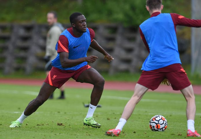 UNSPECIFIED, AUSTRIA - JULY 16: Ibrahima Konate of Liverpool during a training session on July 16, 2021 in UNSPECIFIED, Austria. (Photo by John Powell/Liverpool FC via Getty Images)