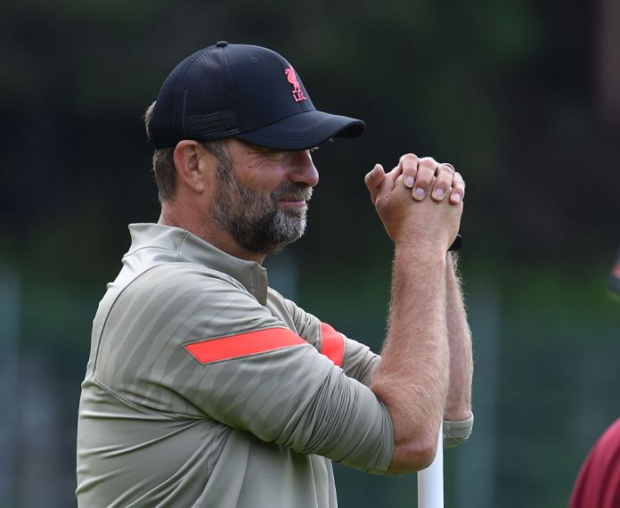 UNSPECIFIED, AUSTRIA - JULY 19:(THE SUN OUT, THE SUN ON SUNDAY OUT) Jurgen Klopp manager of Liverpool during a training session on July 19, 2021 in UNSPECIFIED, Austria. (Photo by John Powell/Liverpool FC via Getty Images)