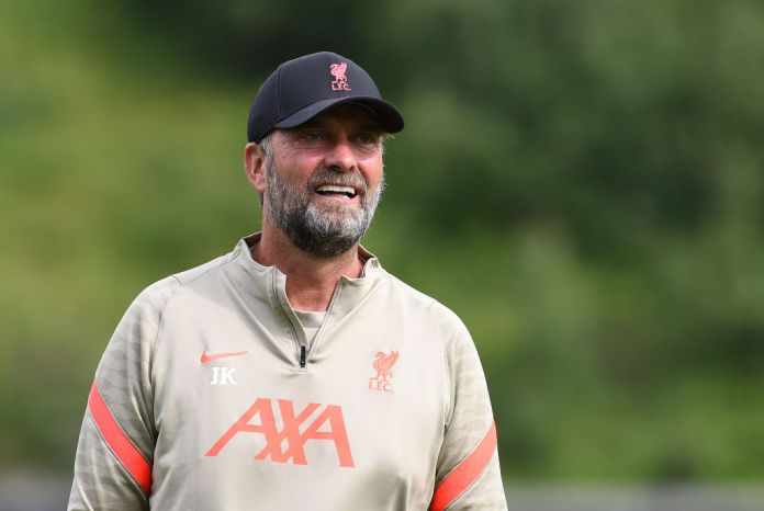 UNSPECIFIED, AUSTRIA - JULY 25: (THE SUN OUT. THE SUN ON SUNDAY OUT) Jurgen Klopp manager of Liverpool during a training session on July 25, 2021 in UNSPECIFIED, Austria. (Photo by John Powell/Liverpool FC via Getty Images)