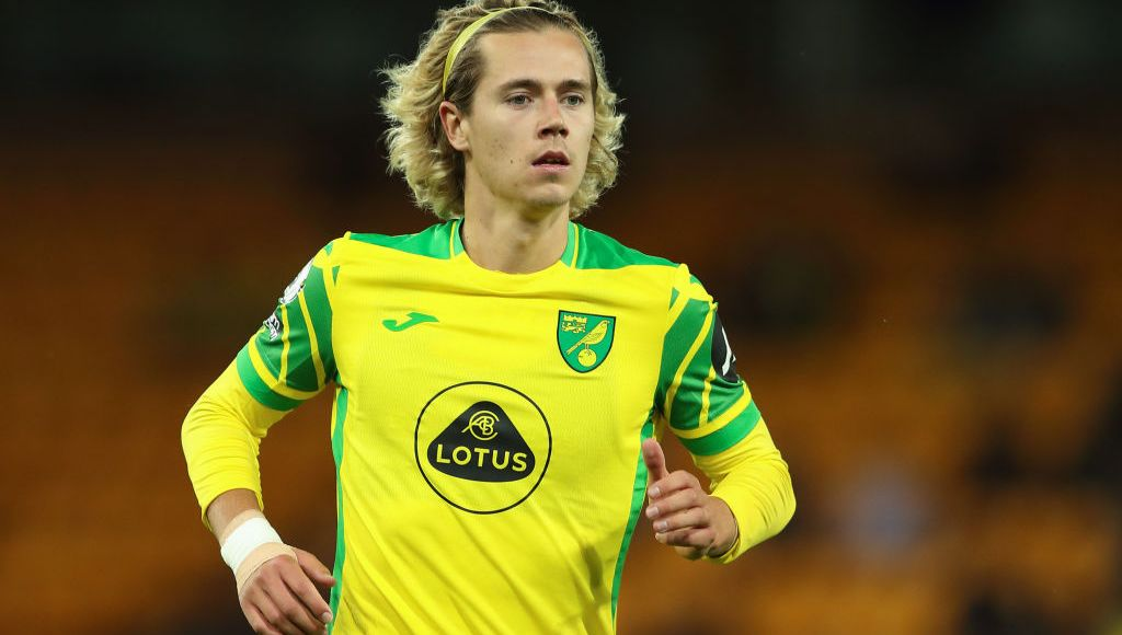 NORWICH, ENGLAND - AUGUST 03: Todd Cantwell of Norwich City during the pre season friendly between Norwich City and Gillingham at Carrow Road on August 3, 2021 in Norwich, England. (Photo by James Williamson - AMA/Getty Images)