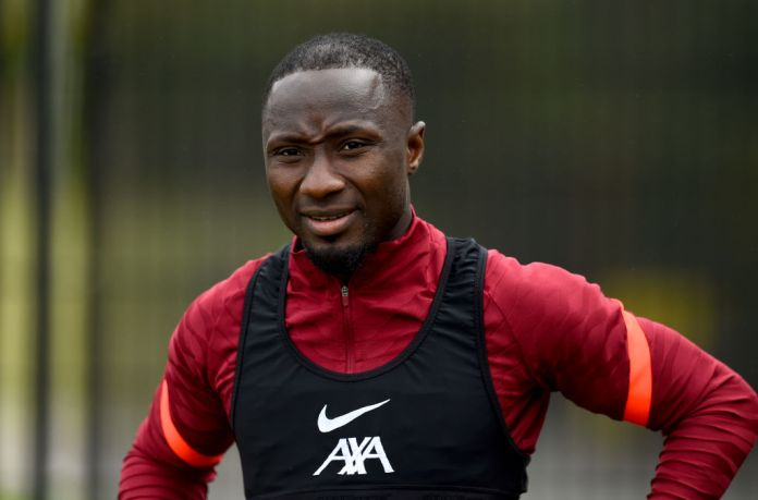 KIRKBY, ENGLAND - AUGUST 17: (THE SUN OUT, THE SUN ON SUNDAY OUT) Naby Keita of Liverpool during a training session at AXA Training Centre on August 17, 2021 in Kirkby, England. (Photo by Andrew Powell/Liverpool FC via Getty Images)