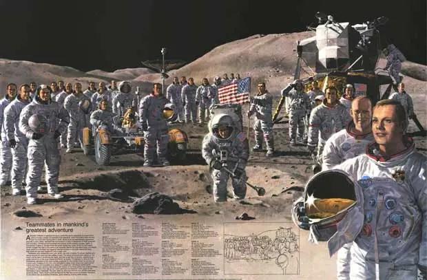 Astronautas de las misiones Apolo (full)