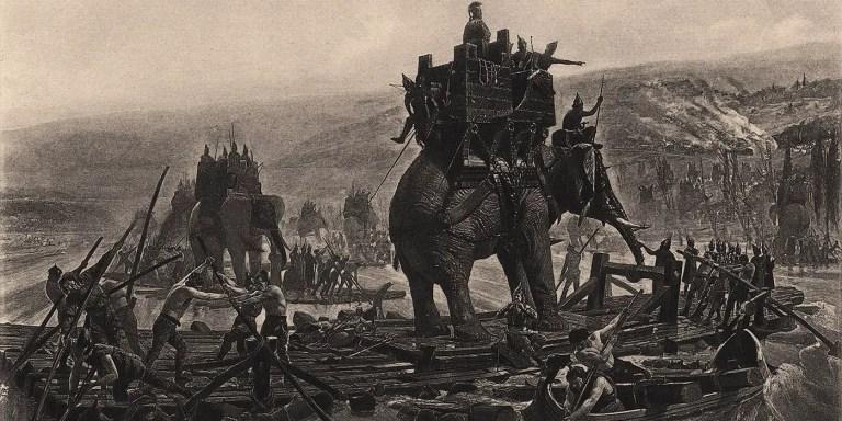 La estrategia de los guerreros rajput contra los elefantes