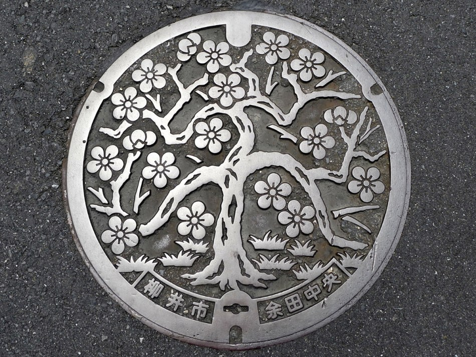Fotografía de las bocacalles artísticas japonesas.