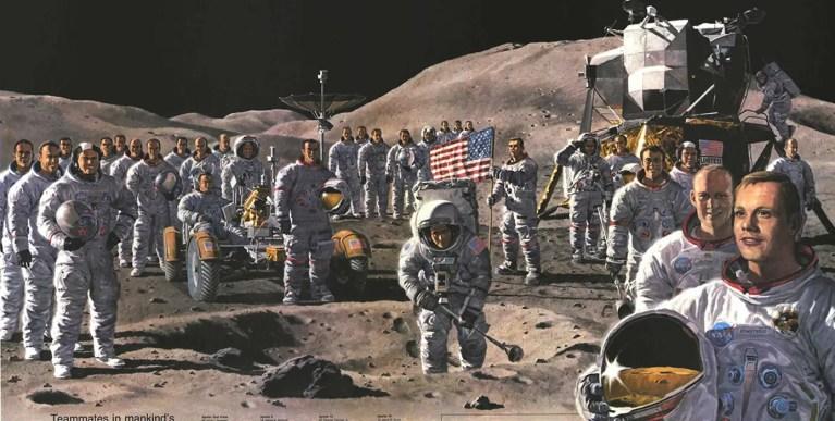 Los astronautas que viajaron a la Luna juntos en una sola imagen