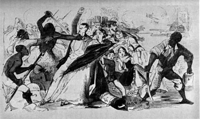Ilustración de la época de la denominada Watermelon War