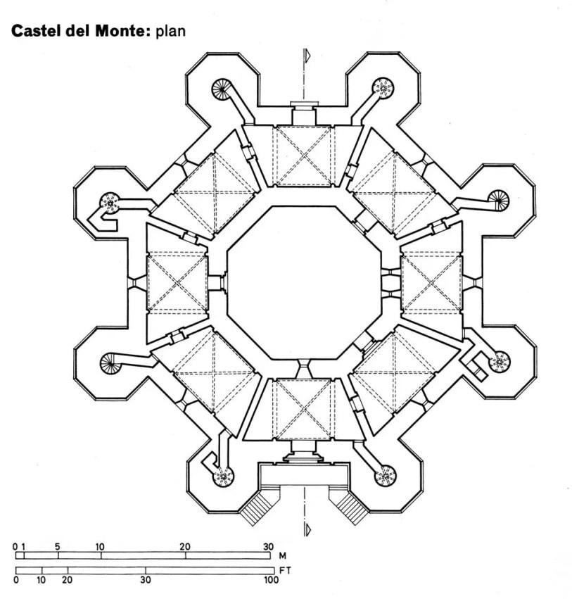 Plano del Castel del Monte.