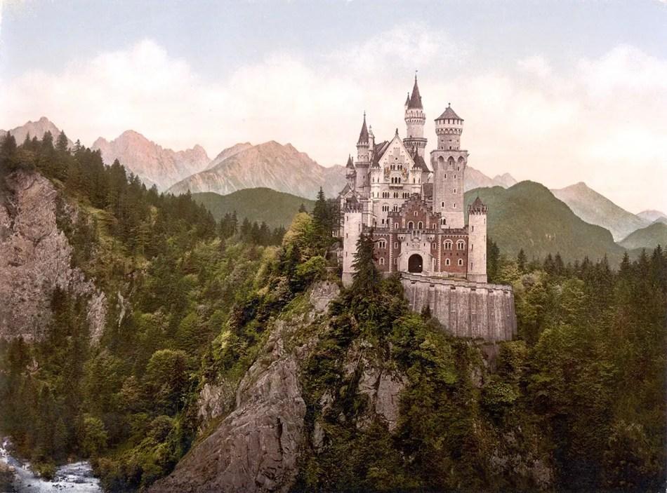 Fotografía del castillo Neuschwanstein.