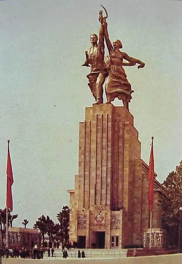 Fotografía del pabellón soviético.