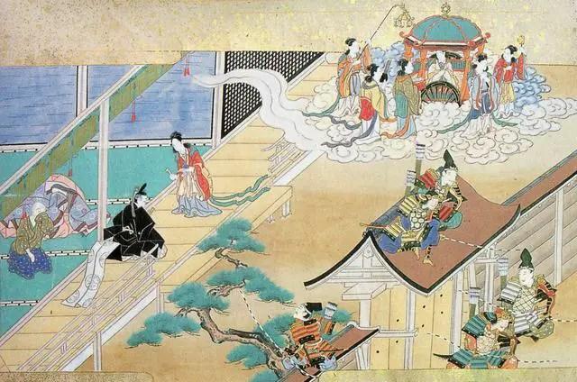 Grabado de la princesa Kaguya Hime.