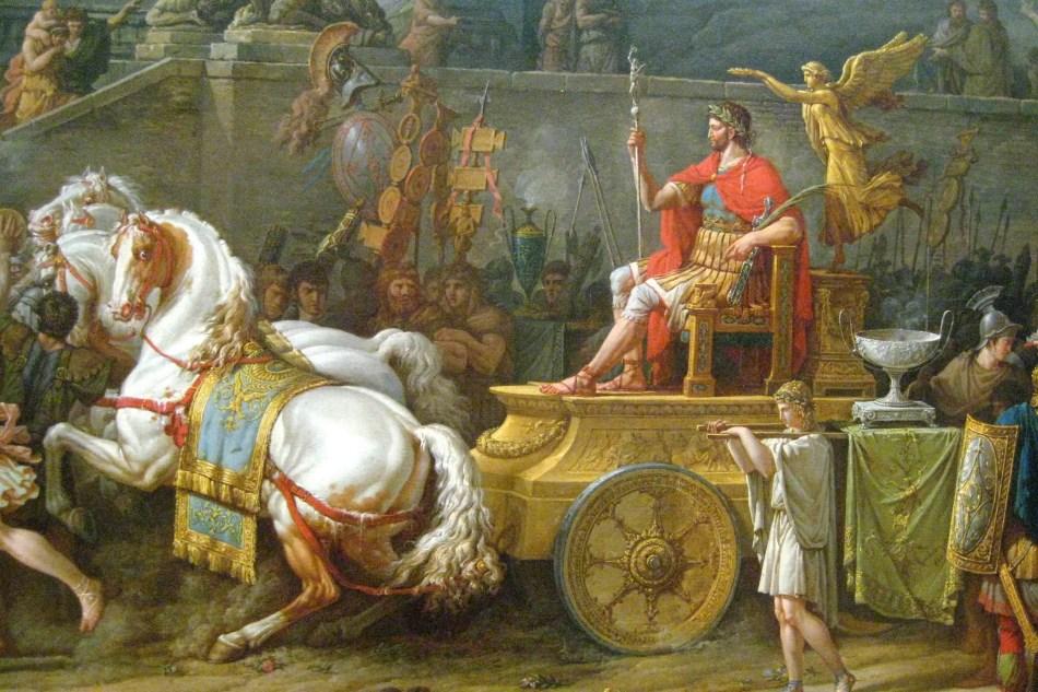 Pintura mostrando el triunfo de Emilio Paulo.