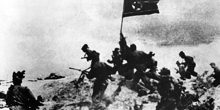 La destrucción causada durante la Guerra de Corea