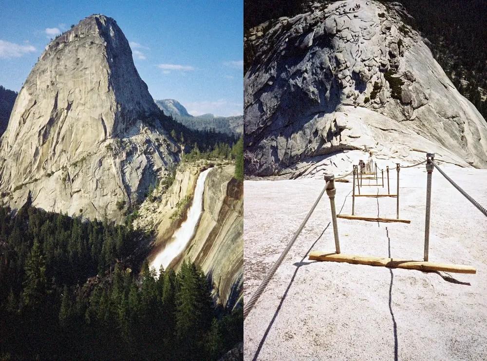 Fotografía de los caminos en el parque Yosemite.