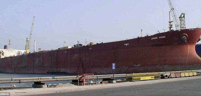 El colosal Jahre Viking, el barco más grande de la Historia