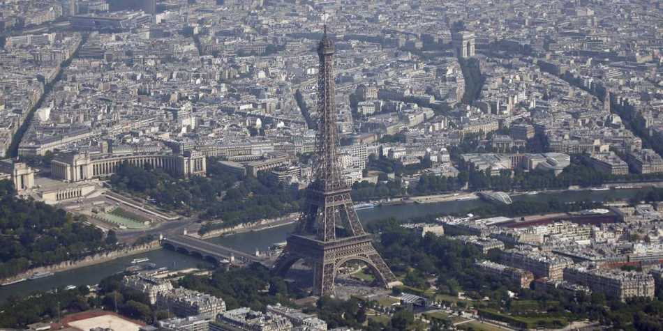 Fotografía del centro de París.