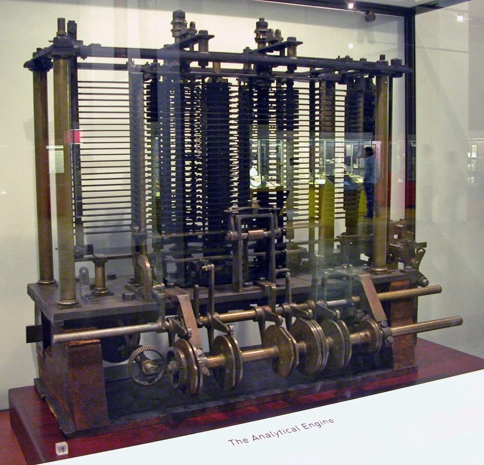 Fotografía del prototipo de la naquína analítica de Charles Babbage.