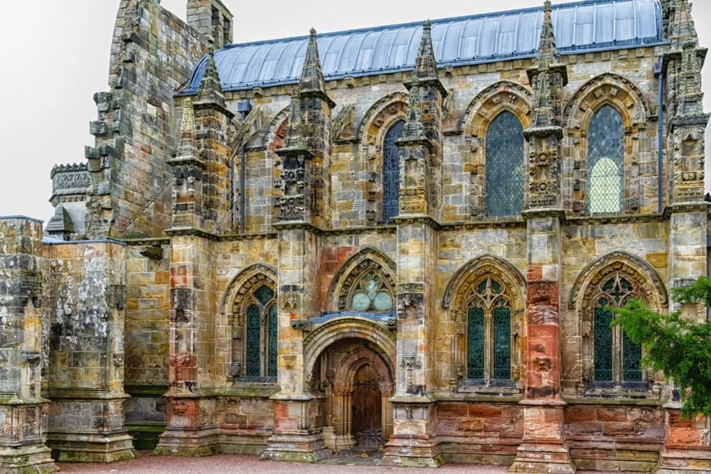 Fotografía de la capilla de Rosslyn.