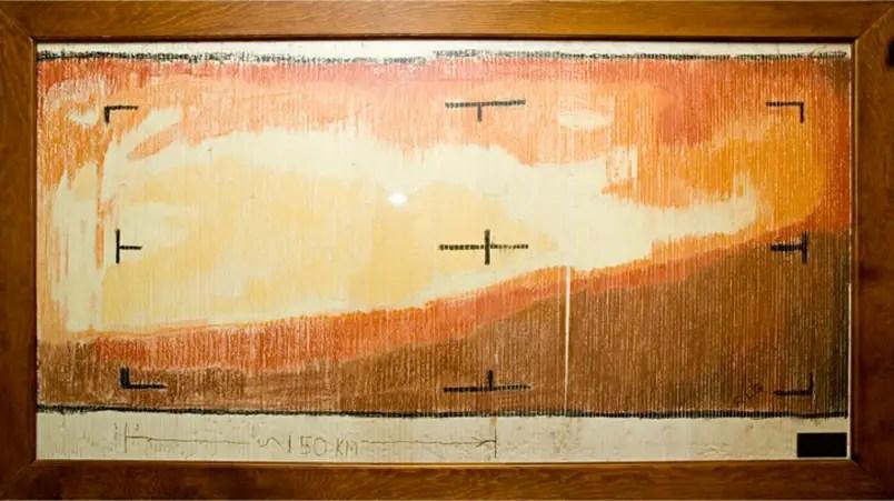 Ilustración de Marte.