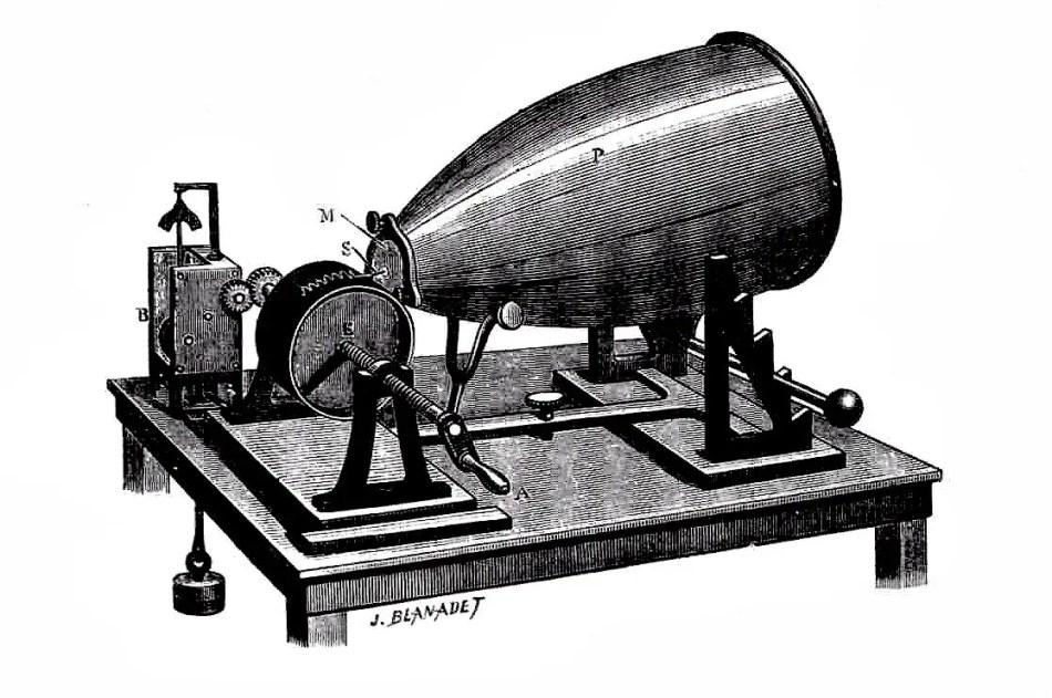 Ilustración de un fonoautograma.