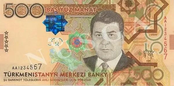 500 manat de Türkmenistan, un billete en honor al dictador megalómano,