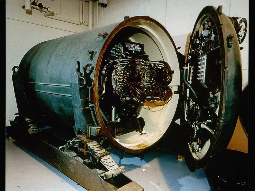Fotografía del interior de una de las minas nucleares.