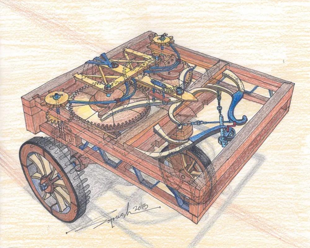 Ilustración del vehículo auto-impulsado.