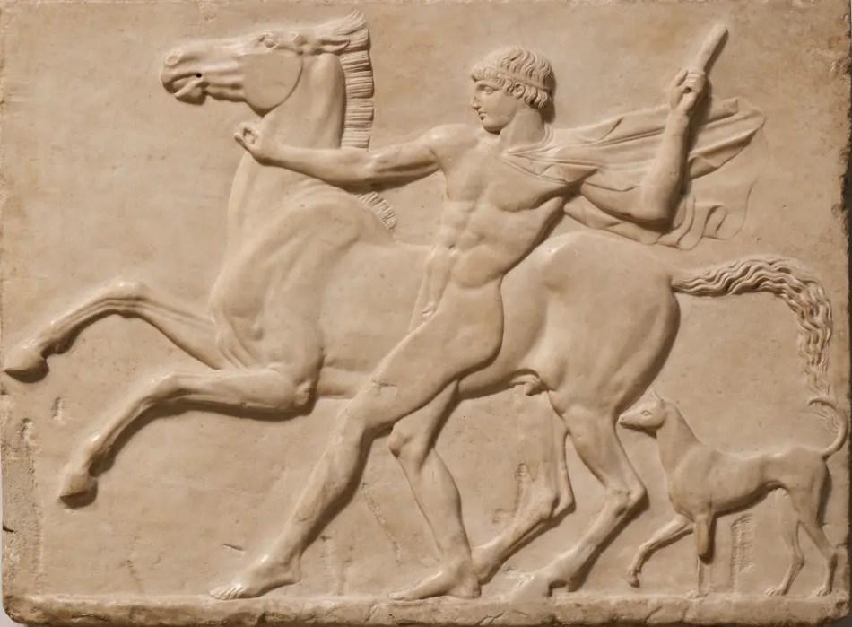 Mural en piedra de Caligula e Incinatus.