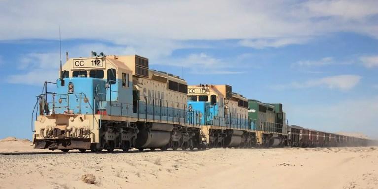 El tren más pesado del mundo, el tren peso ultra-pesado de Zourate