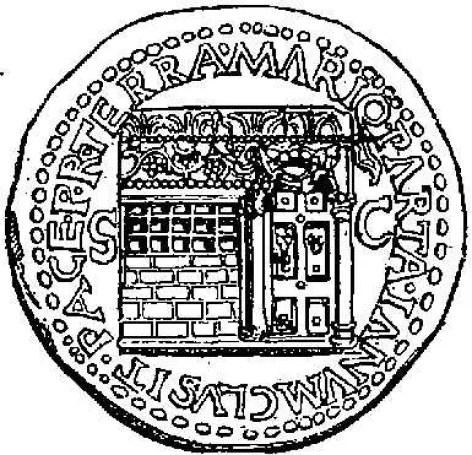 Ilustración de una moneda romana con el templo de Numa Pompilo.