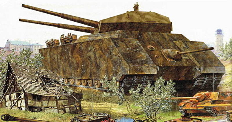 Ilustración del Landkreuzer P. 1000 Ratte.