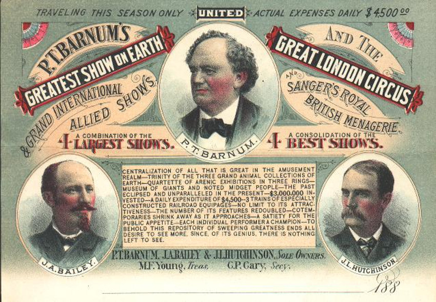 Afiche del circo de P.T. Barnum.