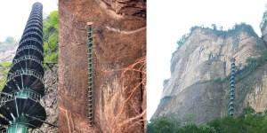 Fotografía de la escalera de Taihang.