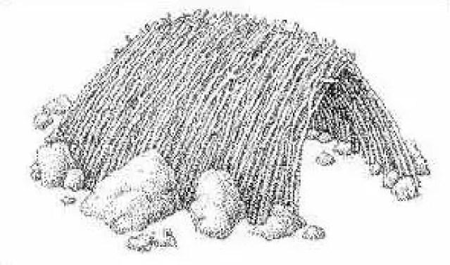 Ilustración de la morada más antigua del mundo.