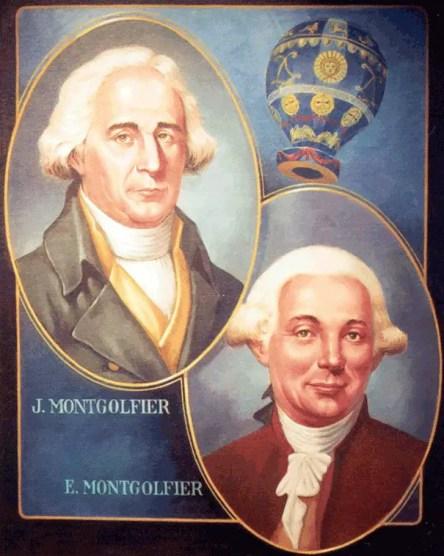 Los hermanos Montgolfier.