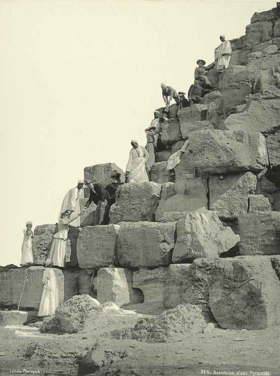 Las piramides en 1879